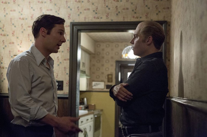 Benedict Cumberbatch and Johnny Depp as brothers Billy and James Bulger in Black Mass