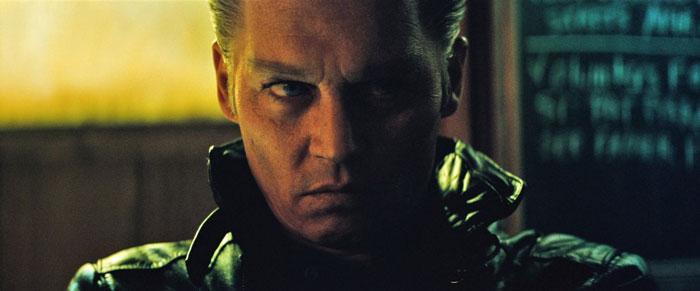 Johnny Depp as mobster James 'Whitey' Bulger in Black Mass