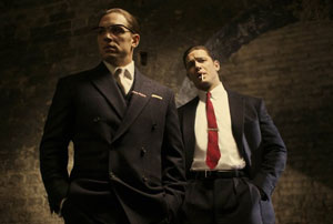 Tom Hardy as Ronnie and Reggie Kray in Legend