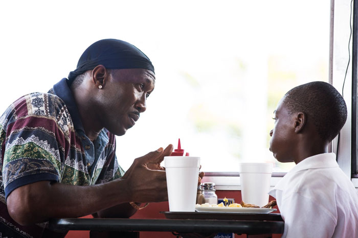 Mahershala Ali as Juan and Alex Hibbert as Little in Moonlight