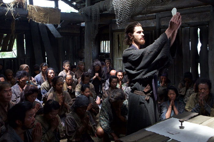 Andrew Garfield as Rodrigues in Martin Scorsese's Silence