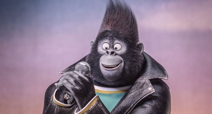 Johnny the gorilla, voiced by Taron Egerton