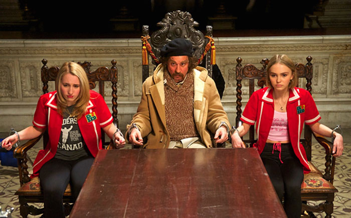 Harley Quinn, Johnny Depp and Lily-Rose Depp in Kevin Smith's Yoga Hosers