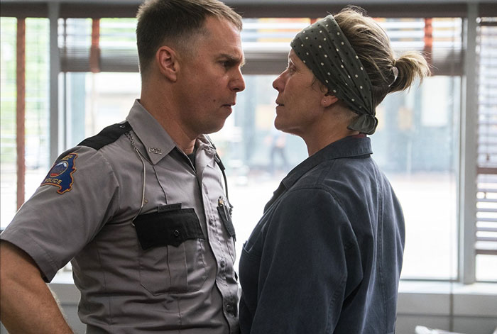 Sam Rockwell and France McDormand in Three Billboards outside Ebbing, Missouri