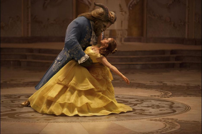 Dan Stevens and Emma Watson as the Beast and Beauty