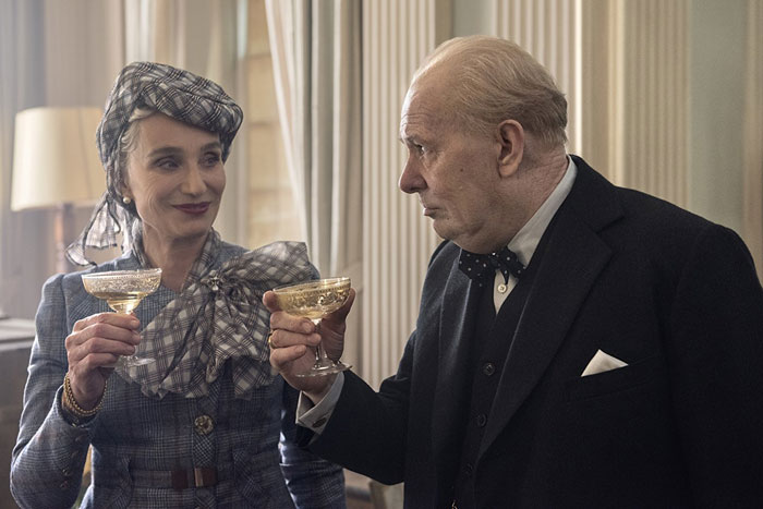 Kristin Scott Thomas as Clemmie and Gary Oldman as Churchill in Darkest Hour