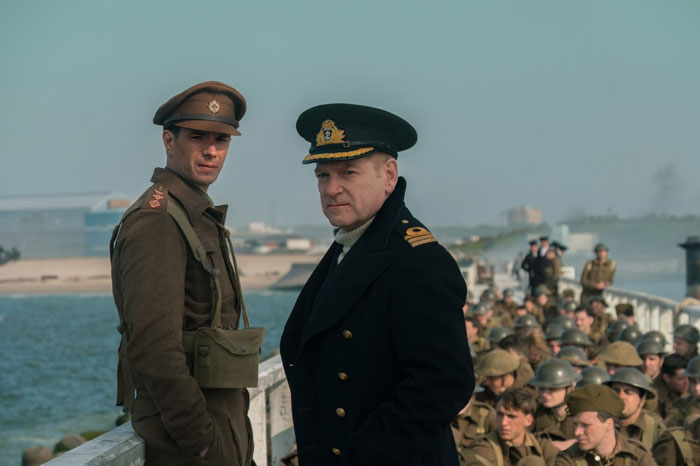 James D'Arcy and Kenneth Branagh in Dunkirk