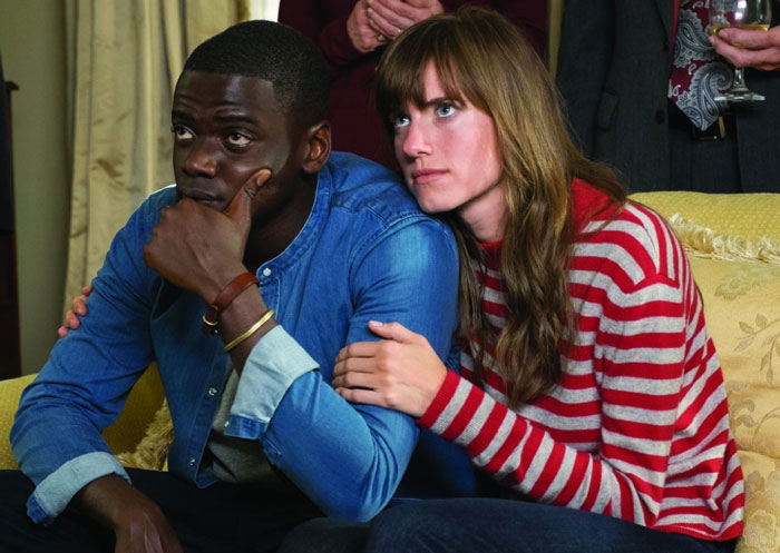 Daniel Kaluuya and Allison Williams as Chris and Rose in Get Out