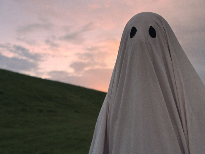 Casey Affleck as the ghost in A Ghost Story