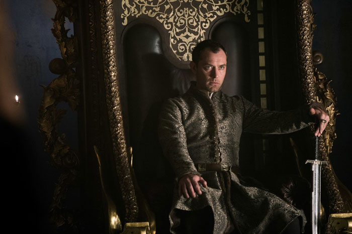 Jude Law as Bored Vortigern in King Arthur: Legend of the Sword