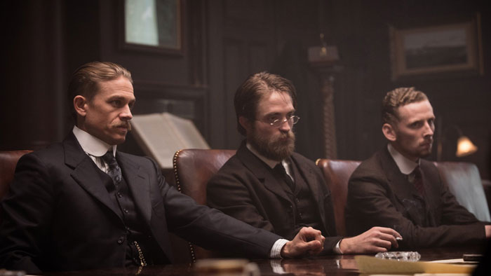 Charlie Hunnam, Robert Pattinson and Edward Ashley in The Lost City of Z
