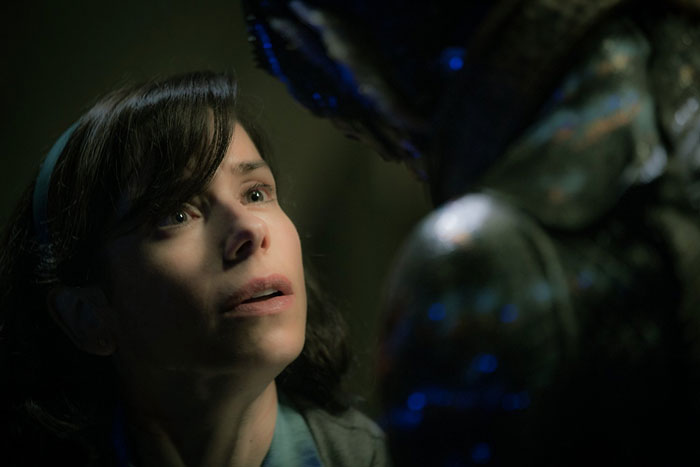 Sally Hawkins and Doug Jones in Guillermo del Toro's The Shape of Water