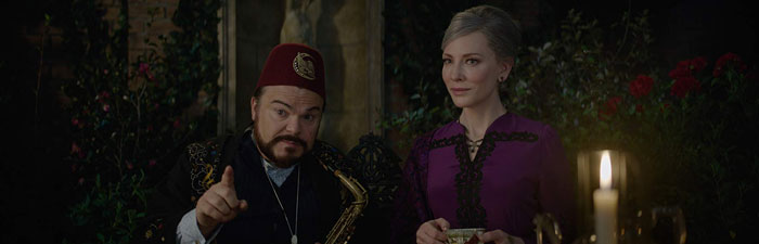 Jack Black and Cate Blanchett in The House with a Clock in its Walls