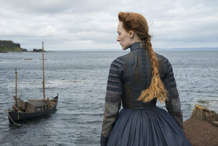 Mary Queen of Scots (Saoirse Ronan) arrives in Scotland.