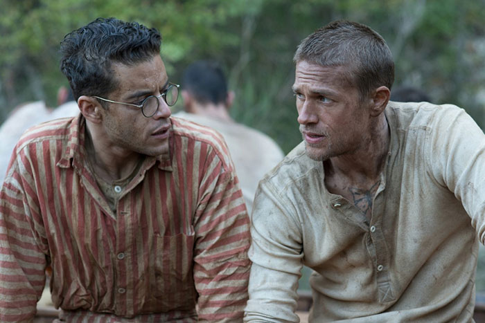 Rami Malek and Charlie Hunnam in Papillon