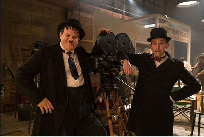 John C Reilly as Oliver Hardy and Steve Coogan as Stan Laurel in Stan & Ollie