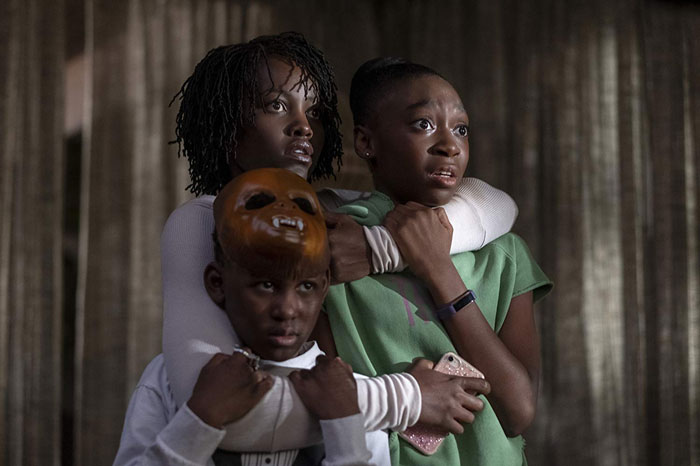 Lupita Nyong'o, Evan Alex, and Shahadi Wright Joseph in Us.