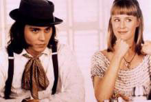 Johnny Depp as Sam and Mary Stuart Masterson in Benny & Joon