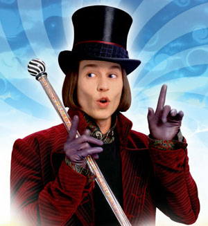 Delicious - Johnny Depp as Willy Wonka in Tim Burton's Charlie and the Chocolate Factory
