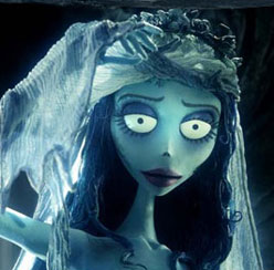 The Corpse Bride herself, voiced by Helena Bonham Carter