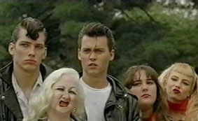 The Cry-Baby gang: Milton, Hatchet Face, Cry-baby, Pepper and Wanda