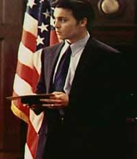 Johnny as FBI man Joseph Pistone