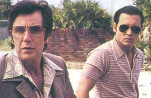 Johnny Depp as Donnie Brasco, with mob mentor Lefty, aka Al Pacino