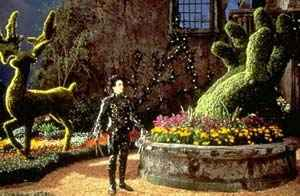 Edward Scissorhands in his topiary garden