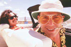 Johnny Depp and Benicio Del Toro take a trip in Fear and Loathing in Las Vegas