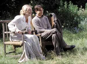 Kate Winslet as Sylvia and Johnny Depp as JM Barrie in Finding Neverland