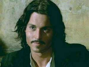 Johnny Depp as the gypsy Cesar in The Man Who Cried
