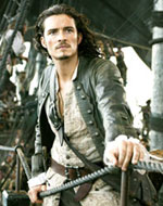 Orlando Bloom buckles his swash as Will Turner in Pirates of the Caribbean: Dead Man's Chest