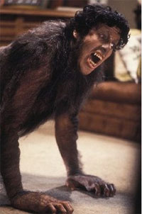 David (David Naughton) mid-transformation into An American Werewolf in London