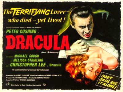 The original poster for Hammer's Dracula