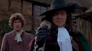 Barry Andrews as Ralph and Patrick Wymark as the Judge in The Blood on Satan's Claw