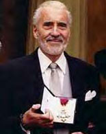 Christopher Lee receives his CBE