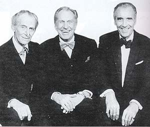 Three legends together: Peter Cushing, Vincent Price and Christopher Lee