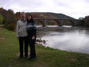 Emma and Stephen in Dunkeld