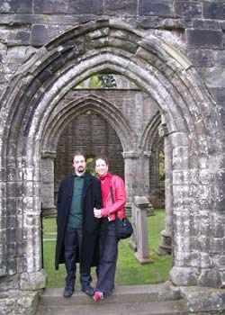 Me and Ian at Dunkeld Cathedral