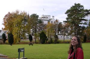 Me outside Blair Castle