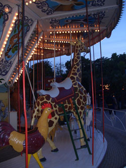 More carousel animals in the Tivoli Gardens