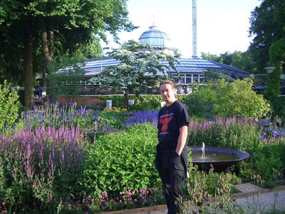 Ian in the Tivoli Gardens