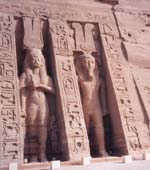 Statues outside the Temple of Nefertari