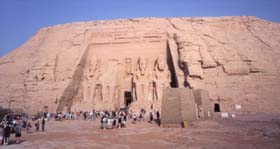 The amazing temple of Ramses II at Abu Simbel
