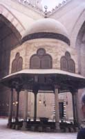 Inside the Sultan Hassan mosque