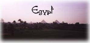 I wish I was in Egypt...