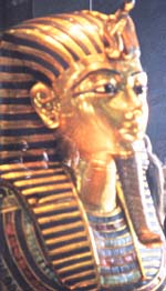 The famous golden mask of Tutankhamun