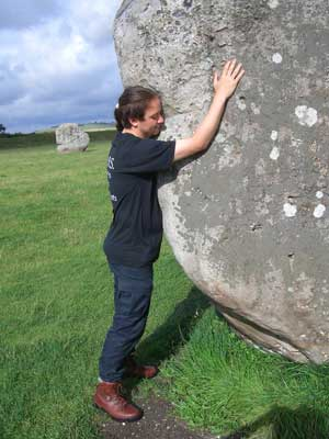 Ian feels the ancient power of the stones in Avebury