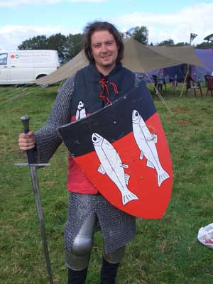 The Salmon Lord gets dressed for battle