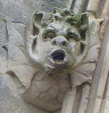 A gargoyle on Salisbury Cathedral